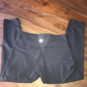 Lululemon Wunder Under cropped leggings black 12